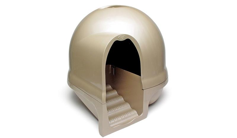 Petmate Cleanstep Litter Box เพ็ทเมท คลีนสเต็บ ห้องน้ำแมวมีฝา ทรงกลม พร้อมบันได