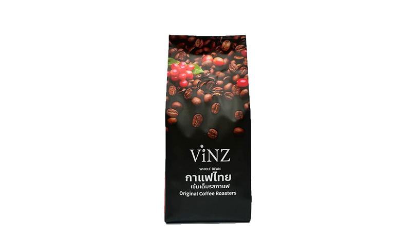 เมล็ดกาแฟคั่วบด Vinz Whole Bean AROMA