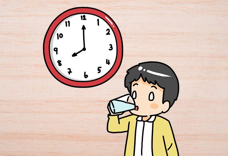 ดื่มน้ำ 1 แก้ว : ช่วงเวลา 08:00 – 09:00 น.