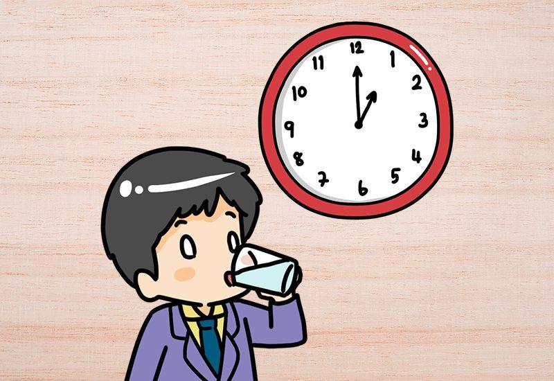 ดื่มน้ำ 2-3 แก้ว : ช่วงเวลา 13:00 – 17:00 น.